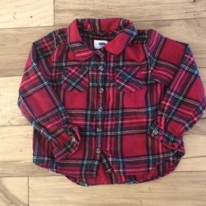 Old Navy Red Flannel Top